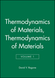 Thermodynamics of Materials, Volume 1 (0471308854) cover image