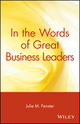 In the Words of Great Business Leaders (0471348554) cover image