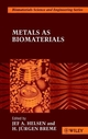 Metals as Biomaterials (0471969354) cover image