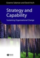 Strategy and Capability: Sustaining Organizational Change (0631228454) cover image
