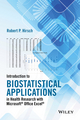 Introduction to Biostatistical Applications in Health Research with Microsoft Office Excel (1119089654) cover image