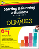 Starting and Running a Business All-in-One For Dummies, 2nd UK Edition (1119975654) cover image