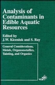 Analysis of Contaminants in Edible Aquatic Resources (0471185655) cover image