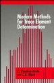 Modern Methods for Trace Element Determination (0471974455) cover image