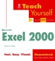 Teach Yourself Microsoft Excel 2000 (0764532855) cover image
