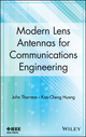 Modern Lens Antennas for Communications Engineering (1118010655) cover image