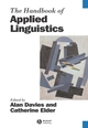 Handbook of Applied Linguistics (0470756756) cover image