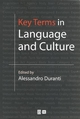 Key Terms in Language and Culture (0631226656) cover image