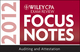 Wiley CPA Exam Review Focus Notes 2012, Auditing and Attestation (1118295056) cover image
