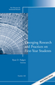 Emerging Research and Practices on First-Year Students: New Directions for Institutional Research, Number 160 (1118993756) cover image