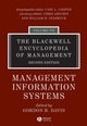 The Blackwell Encyclopedia of Management, Volume 7, Management Information Systems, 2nd Edition (1405100656) cover image