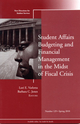 Student Affairs Budgeting and Financial Management in the Midst of Fiscal Crisis: New Directions for Student Services, Number 129 (0470637757) cover image