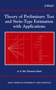 Theory of Preliminary Test and Stein-Type Estimation with Applications (0471563757) cover image