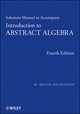 Solutions Manual to accompany Introduction to Abstract Algebra, 4e (1118288157) cover image