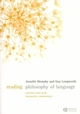 Reading Philosophy of Language: Selected Texts with Interactive Commentary (1405124857) cover image