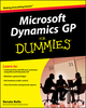 Microsoft Dynamics GP For Dummies (0470388358) cover image