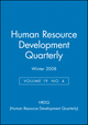 Human Resource Development Quarterly, Volume 19 , No. 4, Winter 2008 (0470446358) cover image