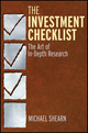 The Investment Checklist: The Art of In-Depth Research (0470891858) cover image