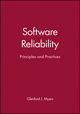 Software Reliability: Principles and Practices (0471627658) cover image
