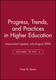 Assessment Update, Progress, Trends, and Practices in Higher Education, Volume 18, Number 4, July-August 2006 (0787990558) cover image
