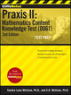 CliffsNotes Praxis II: Mathematics Content Knowledge Test (0061), 2nd Edition (1118085558) cover image