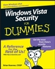 Windows Vista Security For Dummies (0470118059) cover image
