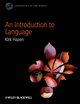 An Introduction to Language (0470658959) cover image