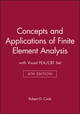 Concepts and Applications of Finite Element Analysis, 4e with Visual FEA/CBT Set (0471414859) cover image
