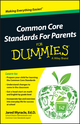 Common Core Standards For Parents For Dummies (1118841859) cover image