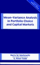 Mean-Variance Analysis in Portfolio Choice and Capital Markets (1883249759) cover image