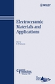 Electroceramic Materials and Applications: Ceramic Transactions, Volume 196 (047008295X) cover image
