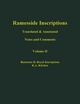Ramesside Inscriptions, Volume II, Ramesses II, Royal Inscriptions: Translated and Annotated, Notes and Comments (063118435X) cover image