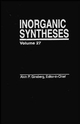 Inorganic Syntheses, Volume 27 (0471509760) cover image