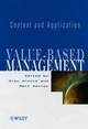 Value-based Management: Context and Application (0471899860) cover image