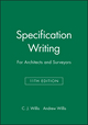 Specification Writing: For Architects and Surveyors, 11th Edition (0632042060) cover image