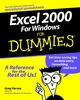 Excel 2000 For Windows For Dummies (0764504460) cover image