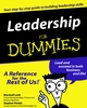 Leadership For Dummies (0764551760) cover image