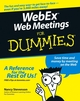 WebEx Web Meetings For Dummies (0764589660) cover image