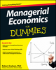 Managerial Economics For Dummies (1118412060) cover image