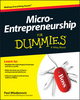 Micro-Entrepreneurship For Dummies (1118591860) cover image