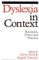 Dyslexia in Context: Research, Policy and Practice (1861564260) cover image