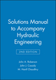 Solutions Manual to accompany Hydraulic Engineering, 2e (0471244961) cover image