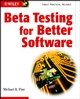 Beta Testing for Better Software (0471427861) cover image