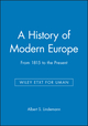 A History of Modern Europe: From 1815 to the Present, WLY ETXT for UMan (1119461561) cover image