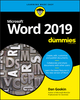 Word 2019 For Dummies (1119514061) cover image