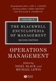 The Blackwell Encyclopedia of Management, Volume 10, Operations Management, 2nd Edition (1405110961) cover image