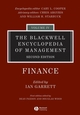 The Blackwell Encyclopedia of Management, Volume 4, Finance, 2nd Edition (1405118261) cover image