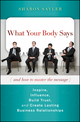 What Your Body Says (And How to Master the Message): Inspire, Influence, Build Trust, and Create Lasting Business Relationships  (0470599162) cover image
