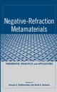 Negative-Refraction Metamaterials: Fundamental Principles and Applications