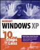 Windows XP in 10 Simple Steps or Less (0764542362) cover image